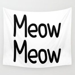 Meow Meow Wall Tapestry