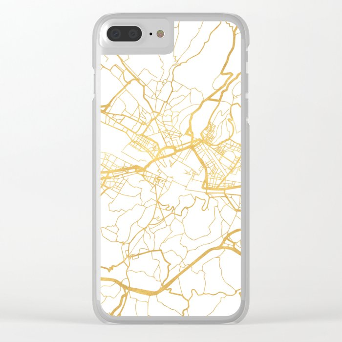 FLORENCE ITALY CITY STREET MAP ART Clear iPhone Case