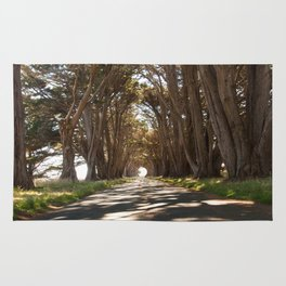 Tunnel of Trees Photography Print Rug