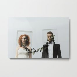 Connected Metal Print