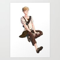 the maze runner Art Prints featuring Newt from Maze Runner Trilogy by RA army