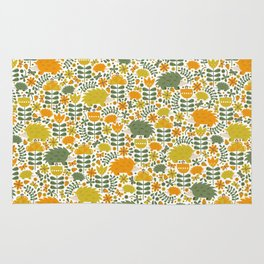 Autumn Hedgehog Forest Rug