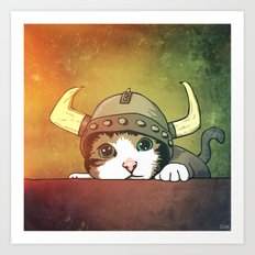 Viking Kitty Art Print
