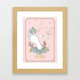 Pisces Zodiac sign Framed Art Print