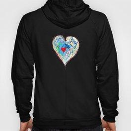 scribble heart Hoody