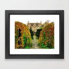Barnsley House In The Fall Framed Art Print