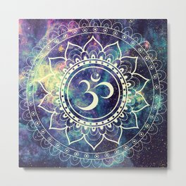 Om Mandala : Deep Pastels Galaxy Metal Print