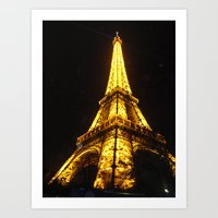 eiffel tower Art Prints featuring Eiffel Tower by AshleyPickles