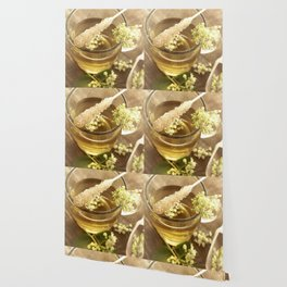 Elder Tea Still life for kitchen Wallpaper