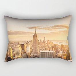 New York City- Empire State Building at sunset Rectangular Pillow