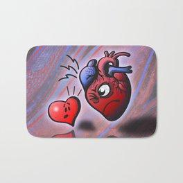 Heart vs Heart Bath Mat