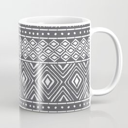 African Mud Cloth // Charcoal Coffee Mug