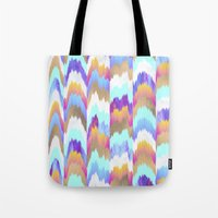 glitch Tote Bags featuring Glitch by Elisabeth Fredriksson