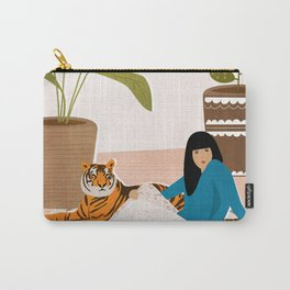 Girl and tiger Carry-All Pouch