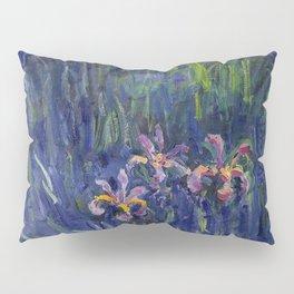 Irises No. 2 still life painting by Claude Monet Pillow Sham