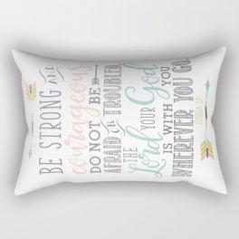 Joshua 1:9 Christian Bible Verse Typography Design Rectangular Pillow