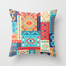 Mexican Geometric Pattern Throw Pillow