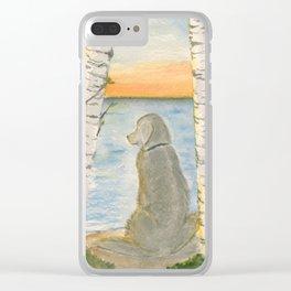 Shoreline Doggy Daze Clear iPhone Case