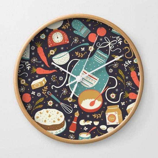 Carrot Cake Wall Clock