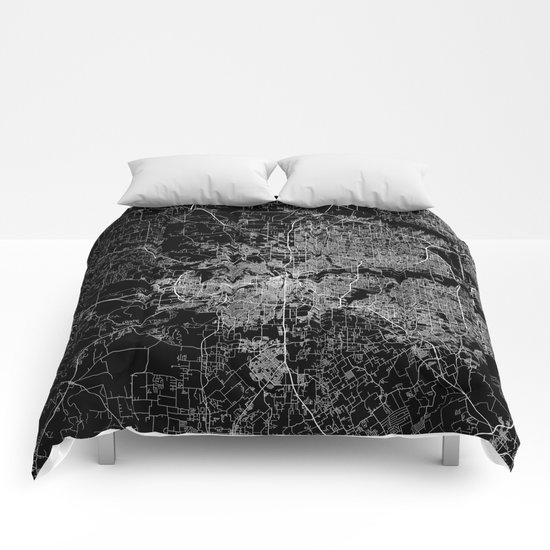 Fort Worth map Comforters
