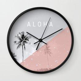 Island vibes - Aloha Wall Clock