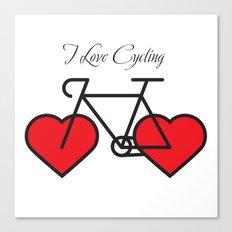I love cycling Canvas Print