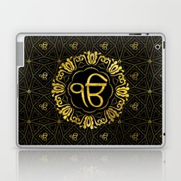 Decorative gold Ek Onkar / Ik Onkar  symbol Laptop & iPad Skin