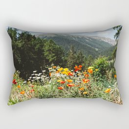 Mountain garden in Switzerland mountains Rectangular Pillow