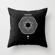 Mesh Geometry III Black Throw Pillow
