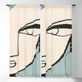 Abstract Face 34 Blackout Curtain