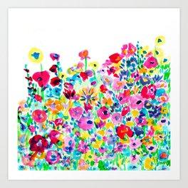 Flower Fields Pink Art Print