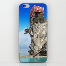 House in the middle of the sea iPhone Skin
