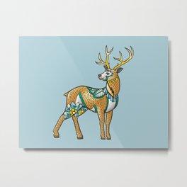 Mandala Deer Metal Print