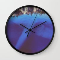 aviation Wall Clocks featuring underwater aviation  by lizbee