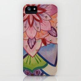 Fleur de la vie mandala Bleu iPhone Case