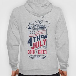 Typography Beer - Fourth of July Hoody