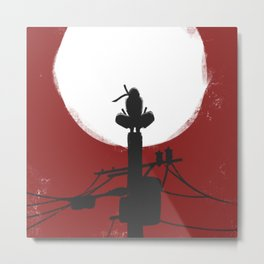 RedMoon Silhouette Metal Print