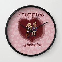 Preppies, gotta love 'em Wall Clock