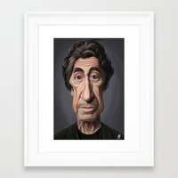 celebrity Framed Art Prints featuring Celebrity Sunday ~ Al Pacino by rob art | illustration