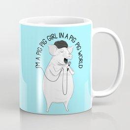 Pig singing Emilia   Animal Karaoke   Illustration   Blue Coffee Mug