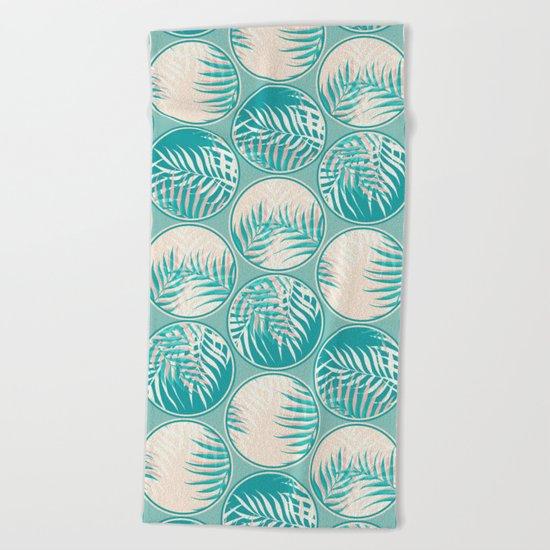 Cyan Tropical Coins #society6 #decor #buyart Beach Towel