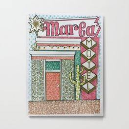 Marfa Motel—Come and Stay a While Metal Print