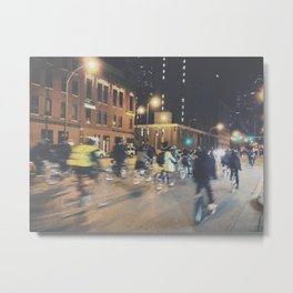 Late Night Bike Ride Metal Print