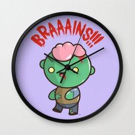 Zombie Kawaii | BRAAAINS!!!! BRAINS!! Halloween Wall Clock