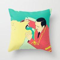 circus Throw Pillows featuring Circus by ministryofpixel