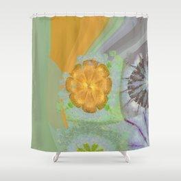 Triakisoctahedrid Unclad Flowers  ID:16165-023954-27470 Shower Curtain