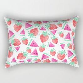 Watermelon + Strawberry Rectangular Pillow