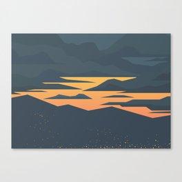 Evening lights Canvas Print