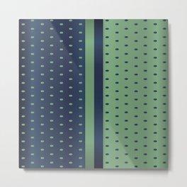 Sage Green and Slate Blue Polka Dots Metal Print
