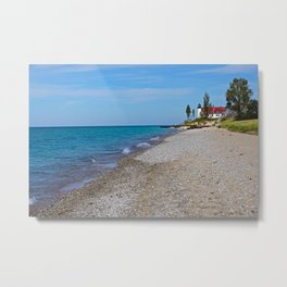Lake Michigan Lighthouse Metal Print